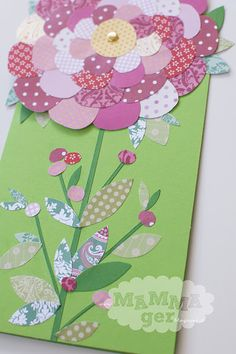 Flower birthday card