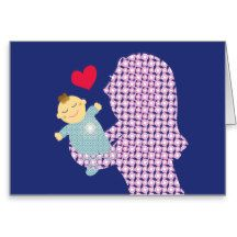 Oh and my baby! greeting card