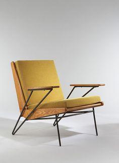 A yellow armchair.