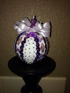 Handmade sequin ornament on Etsy, $12.00