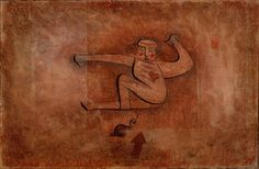 Paul Klee 'Die Schlange' (The Serpent or The Snake [my own attempt at translation g.s.]) 1923 Watercolor, ink and oil on paper, mounted on cardboard 32.5 x 49 cm