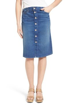 Sea Braided Front Slit Denim Skirt available at #Nordstrom | DENIM ...