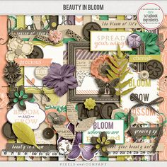 Beauty In Bloom by Digital Scrapbook Ingredients is now available at Pixels and Company for less 30%. A beautiful and versatile spring themed kit for scrapping those precious memories