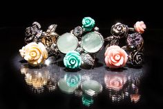 Rings from the Trend Focus collection by Marco Cruz Joalheiro. Coral, Turquoise, Soft Colors, Jewelry Collection, Jewellery, Earrings, Silver, Pink, Gold