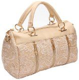 awesome ANDI ROSE Women Designer PU Leather Tote Handbags Purses Shoulder Clutch Hobo Bag (Beige)