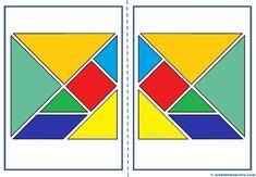 Piezas de tangram para imprimir Paper Puppets, Homeschool Math, Second Grade, Art School, Mathematics, Print Patterns, Teacher, Activities, Education