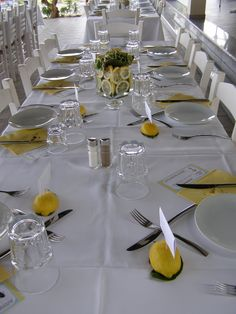 Yellow Weddings, Receptions, Table Settings, Wedding Ceremony, Place Settings, Party, Wedding Reception, Tablescapes