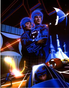Walt Disney's TRON (1982) The first ever CGI movie.