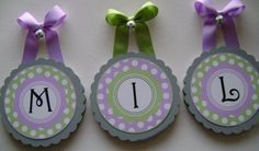 Scallop Edge Round Wood Nursery Wall Letters  by BabyRoosRoom, $14.00