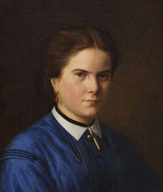 CARL CHRISTIAN VOGEL VON VOGELSTEIN Porträt der Klara Schrader (geboren 1844), Um 1865. Oil on canvas