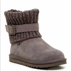 UGG Cambridge knit boots Brand new. Grey. Size 5 UGG Shoes Winter & Rain Boots