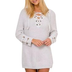 New Knitted Tops Women Long Sleeve Slim Knitwear Casual Sweater White -- Awesome products selected by Anna Churchill