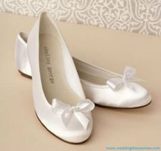 White Wedding Shoes Flats 2012