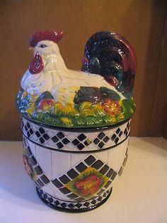 """CBK Ltd. LLC """" 1998 Hen on Nest"""" Cookie Jar (:"""