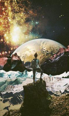 """Entonces me detuve a observar, si, era tan hermosa, cual estrella en oscuridad, cual gota de agua callendo, era la tierra, era mi madre y es mi tiempo, """"respira"""" la brisa soltó mi cabello y al cerrar los ojos me di cuenta, que no queria dejar correr más tiempo.. que no quiero perderme más de esto, al fin, viene a eso, a vivir aquí, contigo, mi amado planeta, un beso mas al aire, te siento, me arrodillo en esa roca y contemplo el paisaje, sonrio... entonces me detube a observar mil años más"""