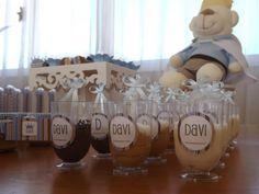 Chá do Rei Davi. Rótulos personalizados para copinhos de doce