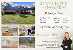 NEW ROOF! Call Heather Murphy 912-335-3956! #HeatherMurphyGroup #YourRealtorForLife #RichmondHillRealEstate #RichmondHillRealtor http://www.heathermurphygroup.com/just-listed/just-listed-90-lexington-court-mls164310/