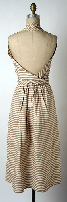 the back...  Claire McCardell, Dress (Sundress) c. 1944