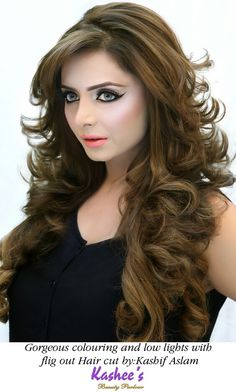 Gorgeous hazel colouring with low lights n flig out cut by kashif aslam at kashee's beauty parlour Long Hair Tips, Honey Blonde Hair, Long Hair Wedding Styles, Haircuts For Long Hair, Feathered Hairstyles, Grow Hair, Hair Today, Hair Dos, Hair Hacks