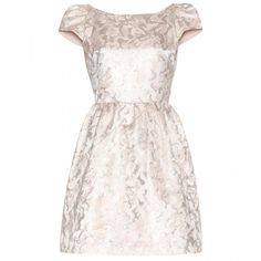 Alice + Olivia Nelly Jacquard Dress ($210) ❤ liked on Polyvore featuring dresses, vestidos, short dresses, alice + olivia, metallic, metallic jacquard dress, jacquard dress, metallic cocktail dress, mini dress and pink metallic dress