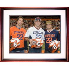 Powell Brothers Syracuse Lacrosse Framed 16x20 Photo - The Powell brothers are always mentioned when you bring up Lacrosse. They are one of the first families of lacrosse and have helped make lacrosse a household name. Each Powell Michael Ryan and Casey brother has played for Syracuse University and helped the program achieve national recognition along with developing the Major League Lacrosse. This 16x20 photo of the three Powell brothers comes with a cherry wood frame and white matting…