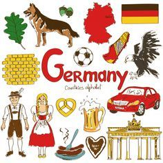 The flag, German Shepherds, and Berlin–Germany has so many things to offer! The 'G' is for Germany in our alphabetical countries worksheets, Flags Of European Countries, Countries And Flags, Countries Of The World, World Cultures, Geography For Kids, Teaching Geography, World Geography, Cultures Du Monde, Sketch Note