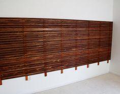 DIY: Slatted Headboard with Upholstered Floating Platform Bed   ModHomeEc
