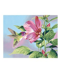Another great find on #zulily! Hibiscus Hummingbird Paint by Numbers Set #zulilyfinds
