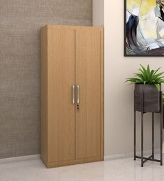 Fabiola Two door hinged Wardrobe designed in PLPB