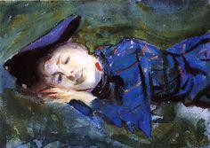 John Singer Sargent - Violet Resting on the Grass
