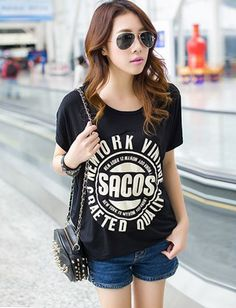 Casual Circle State Short Sleeve Tee For Women, Shop online for $13.50 Cheap T-Shirts code 719231 - Eastclothes.com Tees For Women, Cheap T Shirts, Short Sleeve Tee, 50th, Casual, Stuff To Buy, Shopping, Clothes, Tops