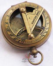 Nautical Brass Sundial Compass, Antique Brass Vintage Camping Hiking Compass Vintage Compass, Antique Brass, Map Compass, Compass Rose, Vintage Nautical, Best Knife Sharpener, Sundial, Instruments, Inventions