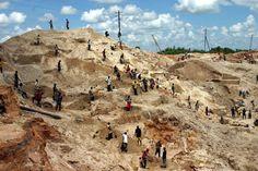 Coltan mine mountain