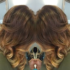 Perfect warm tone ombré / sombre! Hair by: Shanon conte @stylistshanonrose_hair