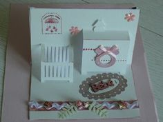 carte pop-up de naissance fille