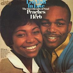 """""""Let's Fall In Love"""" (1967, Date) by Peaches And Herb.  Their second LP."""