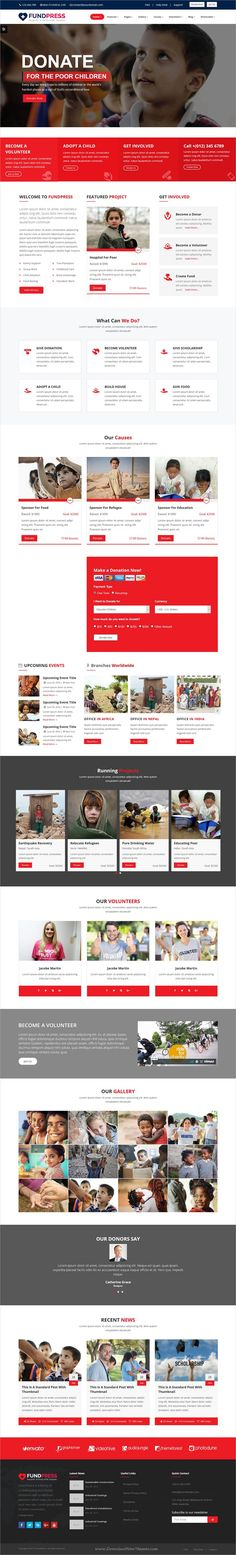 FundPress is clean and modern design responsive #bootstrap theme for #charity, crowdfunding, #donation, NGO and nonprofit organizations website download now..