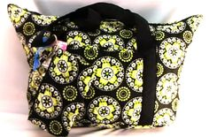 Oversized #Quilted #Tote #Paisley + Matching #Wristlet Zip Black & #LimeGreen #DiaperBag  #Totes-Shoppers