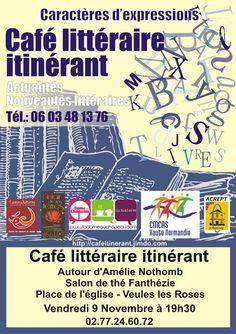 Café littéraire autour d'Amélie Nothomb à Veules les Roses (76) France