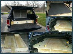 DIY Truck Vault / Truck Bed Storage Drawers / Dog Kennel Set up