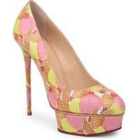 Charlotte Olympia ice cream print heels