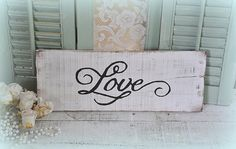 Hey, I found this really awesome Etsy listing at https://www.etsy.com/listing/222993023/love-wood-signshabby-chiccottage