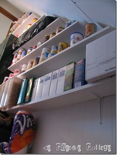 Stairwell Storage Shelves - add this to the honey do list.  :]
