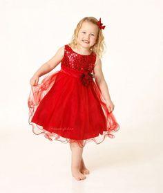 rød kjole til barn