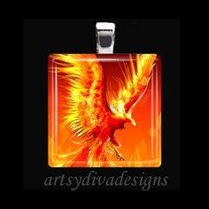 The phoenix, or fire-bird. I'm betting it's a phoenix. Magical Creatures, Fantasy Creatures, Greek Creatures, Phoenix Tattoo Design, Phoenix Tattoos, Crow Tattoos, Phoenix Bird, Phoenix Wings, Phoenix Rising