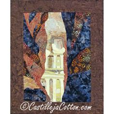 Art Quilt Wall Hanging  The Treasury  on sale by castillejacotton, $175.00