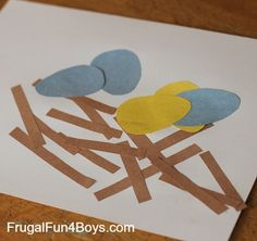 Toddler Craft: Construction Paper Bird's Nest - Frugal Fun For Boys