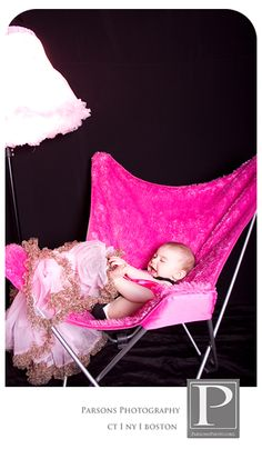 hot pink chair and pink tutus
