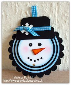 Flower Sparkle: Telescoping Circles Snowman Card - 52 {C}CT July Embellishment Challenge