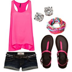 A fashion look from July 2012 featuring MANGO tops, Hollister Co. shorts and Abercrombie & Fitch flip flops. Browse and shop related looks.